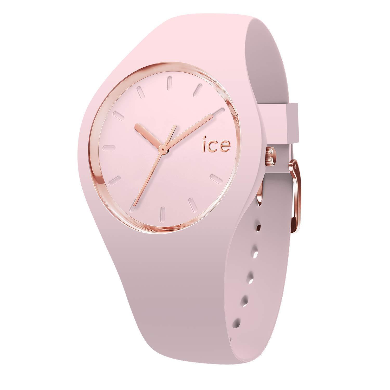 Ice-Watch-Ice-Glam-Pastel-Pink-Lady-Rosa-Damenuhr-mit-Silikonarmband