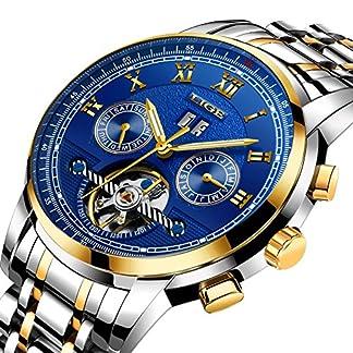 Uhren-Herren-Wasserdicht-Sportuhr-LIGE-Mode-Uhren-Mnner-Automatik-Mechanisch-Skeleton-Luxus-Markenuhr-Klassische-Lssig-Edelstahl-Armbanduhren-Tourbillon-Gold-Blau-Zifferblatt