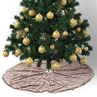 CHENZHAOL-Baumrock-75-cm-120-cm-Pelz-Weihnachtsbaum-Rock-Weihnachten-Braun-Plsch-Baum-Boden-Teppich-Basis-Bodenmatte-Abdeckung-Neue-Jahr-Party-Dekoration