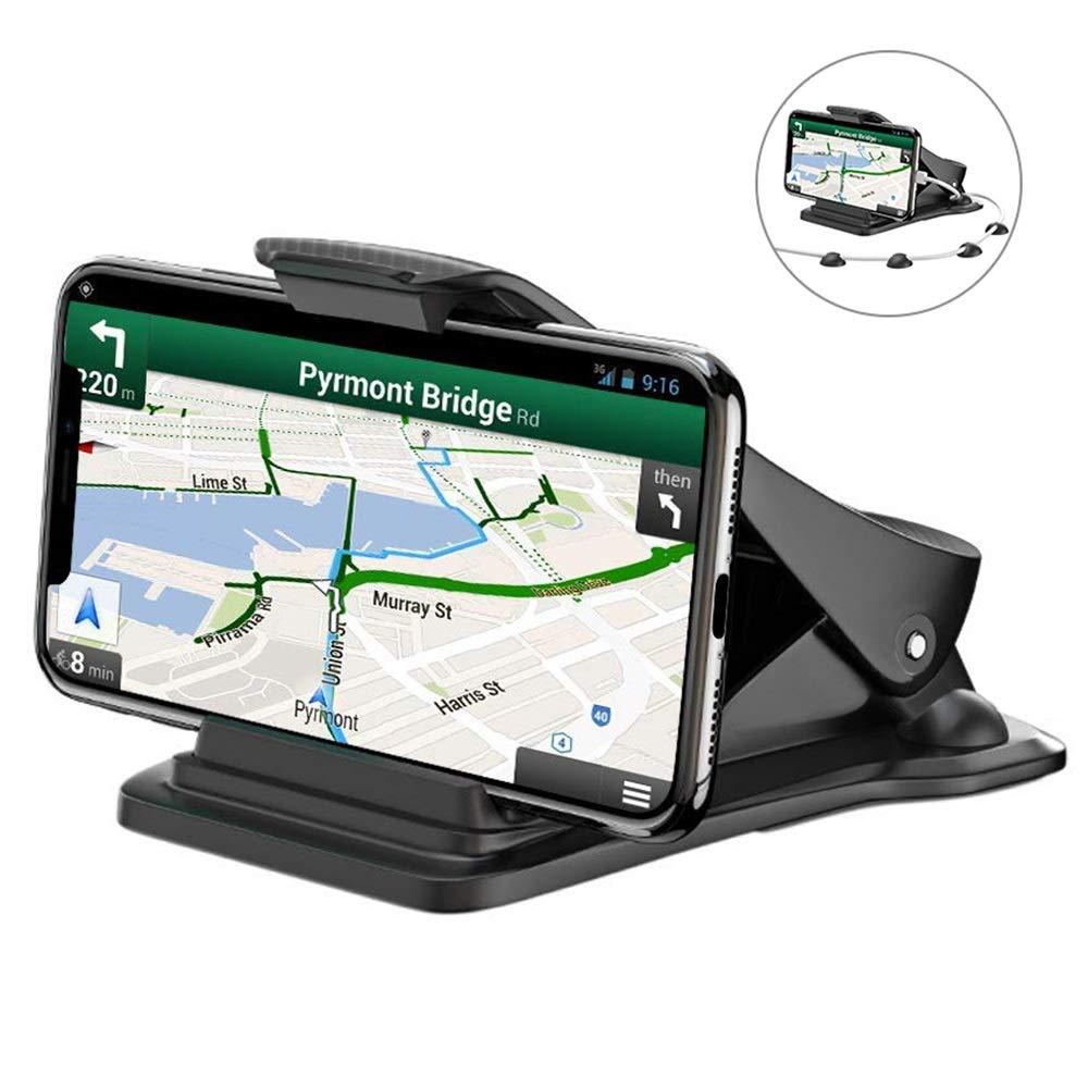 Bovon-Handyhalterung-Auto-Platzsparende-Smartphone-Halterung-KFZ-auf-Armaturenbrett-GPS-Halterung-mit-5-Kabelklemmen-Handyhalter-frs-Auto-fr-alle-3-65-Zoll-Smartphones