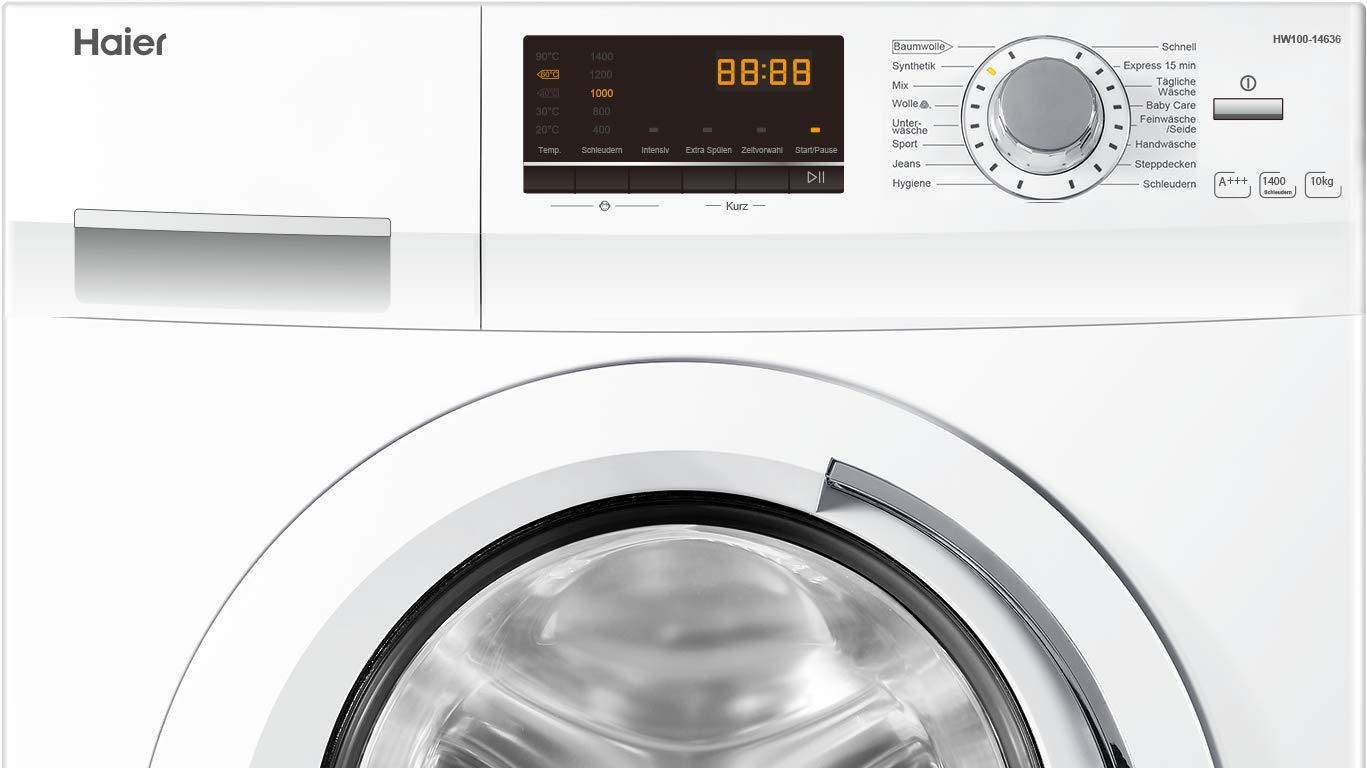 Haier-HW100-14636-Waschmaschine-FLA-220-kWhJahr-1400-UpM-10-kgAqua-Protect-Schlauchwei