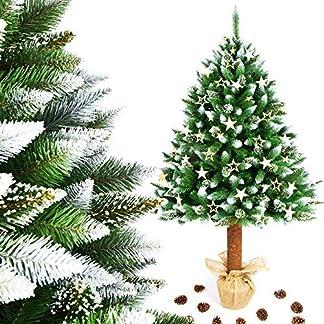MWShop24-Weihnachtsbaum-Christbaum-knstlich-im-Topf-Jute-FICHTE-NATURSTAMM-Baumstamm-aus-Echtem-Holz-Tannenbaum-Hhe