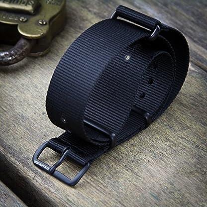 NATO-G10-ZULUDIVER-Schwarz-Nylon-Military-Uhrenarmband-mit-einer-Auswahl-von-Schnalle-Oberflchen