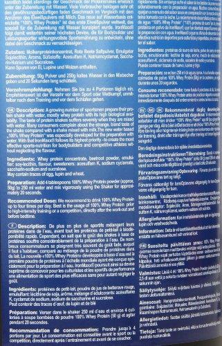 IronMaxx 100% Whey Protein / Proteinpulver auf Wasserbasis für Fitness-Shake / Eiweißpulver mit Erdbeer Geschmack / 1 x 900 g Dose
