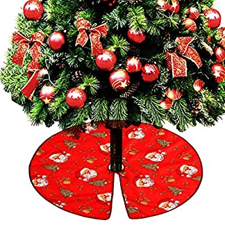 Enjoygoeu-Weihnachtsbaumdecke-90cm-Weihnachtsbaum-Rock-Matte-Filz-Tannenbaumdecke-Santa-Claus-Schneemann-Christbaumstnder-Teppich-Rund-Bodendeko-Weihnachtsdecke-Weihnachtsdekoration
