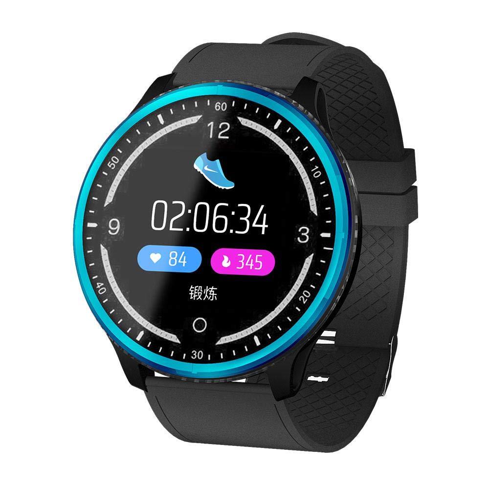 LayOPO-Volle-Runde-Bildschirmanzeige-Smart-Watch-Wasserdichte-P69-Armbanduhr-mit-Kalorien-Schritt-Herzfrequenz-Blutdruck-Schlafmonitor-Pedometer