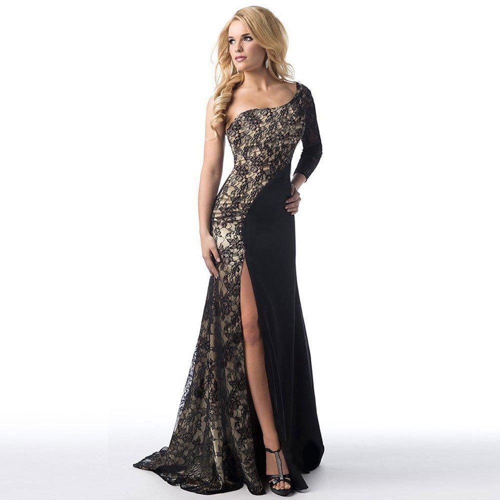 JYJM-2019-Frauen-Formale-Hochzeit-Brautjungfer-Lange-Ball-Abendkleid-Cocktailkleid-Damen-Einfaches-Kleider-Basic-Casual-A-Linie-Skaterkleid-Freizeit-Kleider-Kleid-Langarm-Beilufige-Shirt