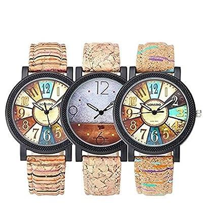 Souarts-Quarz-Armbanduhr-fr-Damen-aus-Kunstleder-mit-rundem-Zifferblatt-im-Kaffee-Design-245-cm