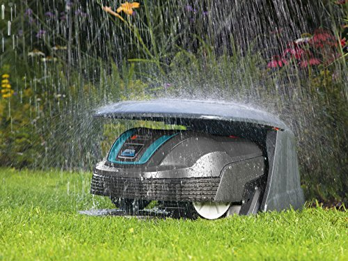 Gardena-4007-20-Garage-fr-Mhroboter-schtzt-vor-direkter-Sonneneinstrahlung-und-bei-schwerem-Unwetter-Kompatiblem-mit-R40Li-und-R70Li-Montage-ber-Ladestation