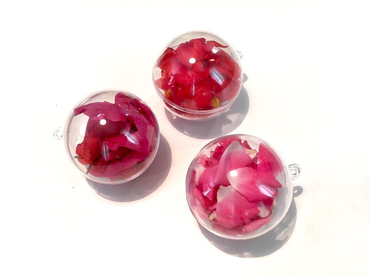 CRYSTAL-KING-20-Stck-Acrylkugeln-6cm-Durchmesser-durchsichtige-Kugel-aufhngen-transparent-Dekokugel-Bastel-Set-Acrylkugel-Weihnachtsbaum-Kugel-Teilbar-befllen-befllbare