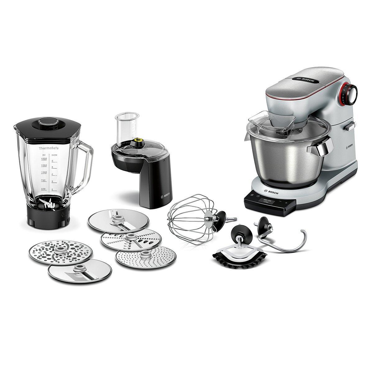 Bosch MUM9DT5S41 OptiMUM Küchenmaschine (1500 W, 3 Profi-Rührwerkzeuge  Edelstahl, spülmaschinenfest, Automatikprogramm, 5,5 Liter, Teigmenge  3,5kg, ...