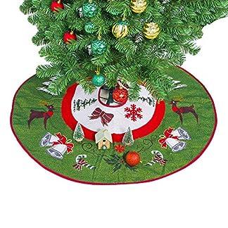 Athyior-Weihnachtsbaum-Rock-Dekoration-Christbaumdecke-Runde-Weier-Plsch-fr-Xmas-Weihnachtsbaum-Ornament-Weihnachtsdekoration-354in