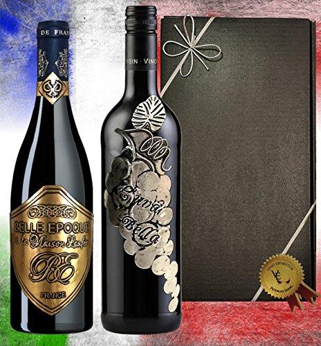 Italien-vs-Frankreich-Rotwein-Geschenkset-der-Superlative-Prestige-Syrah-Cuve-aus-Sangiovese-Primitivo-Merlot-Das-Weingeschenk-fr-Experten-zu-Geburtstag-Weihnachten-Kenner-Mann-Frau