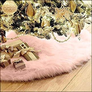 99AMZ-Plsch-Weihnachtsbaum-Rock-Christbaumdecke-Rund-Wei-Weihnachtsbaumdecke-Christbaumstnder-Teppich-Decke-Weihnachtsbaum-Deko