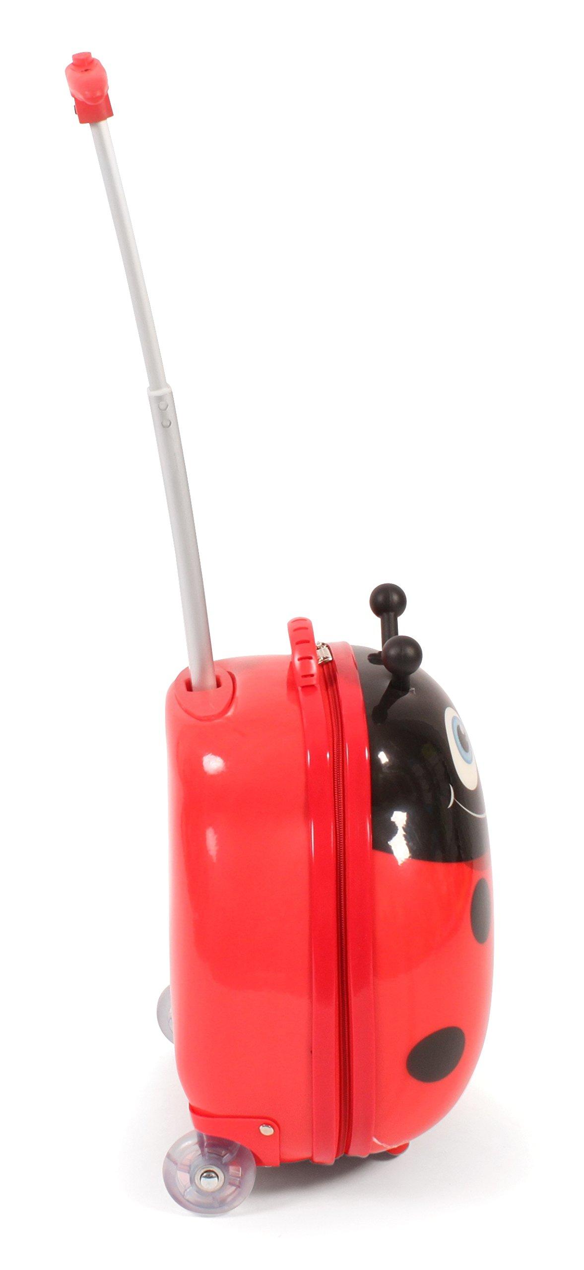 Bayer-Chic-2000-Bouncie-Kinder-Trolley-mit-3D-Marienkfer-Motiv-Kindergepck-20-Liter-Rot