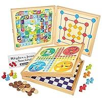 Unbekannt-JeuJura-8119–Coffret-de-Klassiker-Spiel-50-Regeln–Spielsteine-Holz
