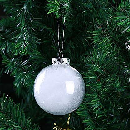 Homyl-35-Stck-Weihnachtskugeln-transparent-Verzierung-Baumkugeln-Baumschmuck-DIY-Kunststoff-Kugel