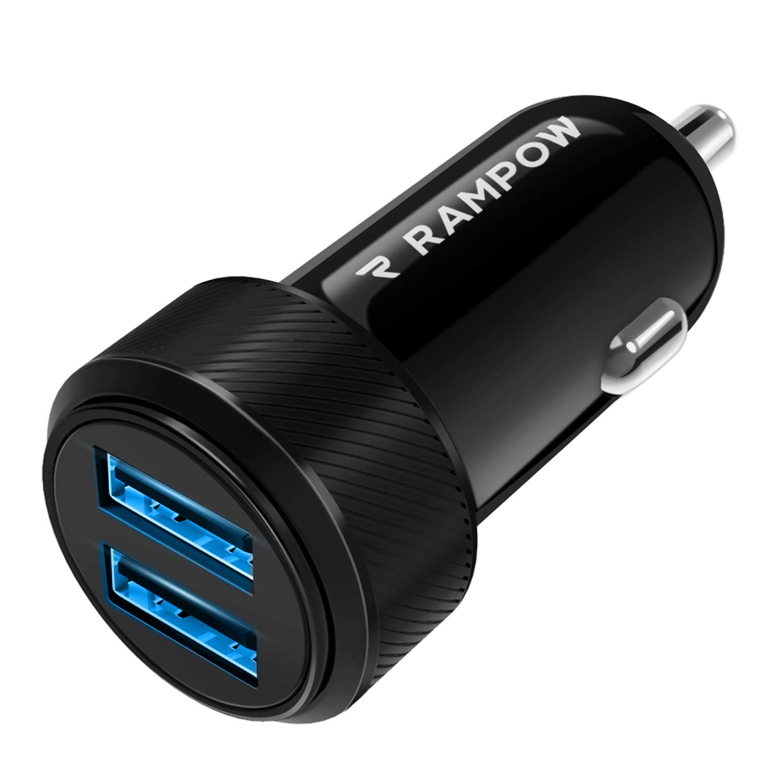 Rampow-Kfz-Ladegert-Auto-Ladegert-Zigarettenanznder-USB-Ladegert-24-W-48A-2-Port-USB-Auto-Ladegert-kompatibel-fr-Samsung-Galaxy-Note-8-Huawei-P9-und-mehr