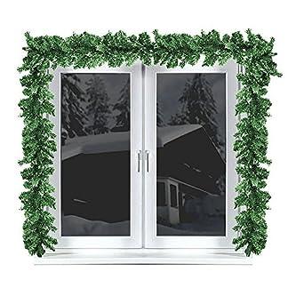 Multistore-2002-2-Stck-Weihnachtsgirlande-Tannengirlande-270cm-Weihnachtsdekoration-weihnachtliche-Fensterdekoration-Trdekoration-Weihnachtsschmuck-Tannengrn-knstlich