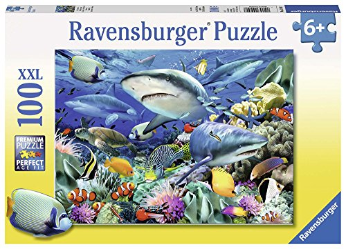 Ravensburger-10951-Riff-der-Haie-100-Teile-Puzzle