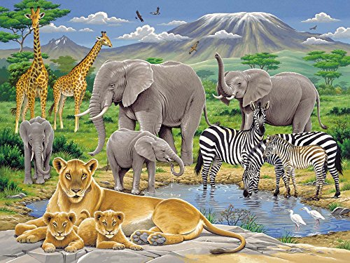 Ravensburger-12736-Tiere-in-Afrika-200-Teile-XXL-Puzzle