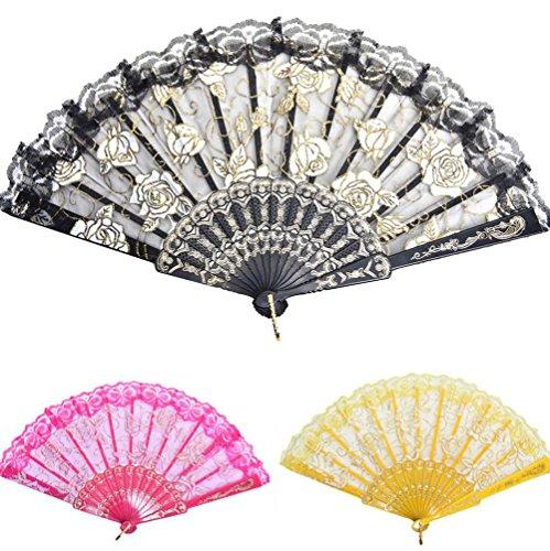 Demarkt-Handfcher-Hand-Fan-Fcher-Sommer-Party-Hochzeit-Hand-Fan-aus-Kunststoff-und-Spitze-Gelb