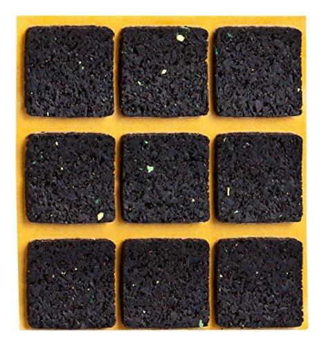 haggiy® Anti-Rutsch-Pad selbstklebend, quadratisch 30×30 mm (9 Stück Rutschhemmer für Möbel, Sofas, Tische)