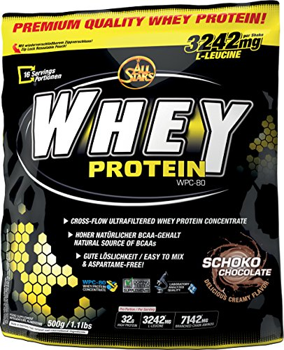 All Stars Whey Protein, Schoko, 1er Pack (1 x 500 g)