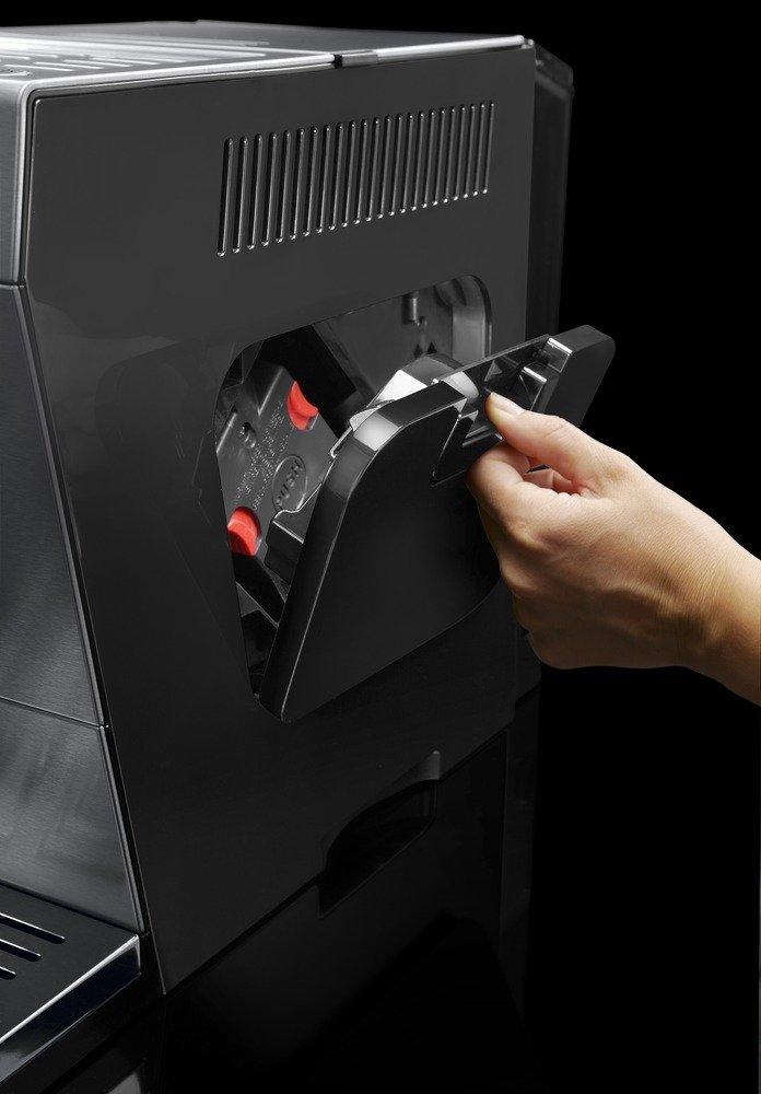 DeLonghi-PrimaDonna-XS-ETAM-36366MB-Kaffeevollautomat-Digitaldisplay-integriertes-Milchsystem-Lieblingsgetrnke-auf-Knopfdruck-Edelstahlfront-2-Tassen-Funktion-silberschwarz