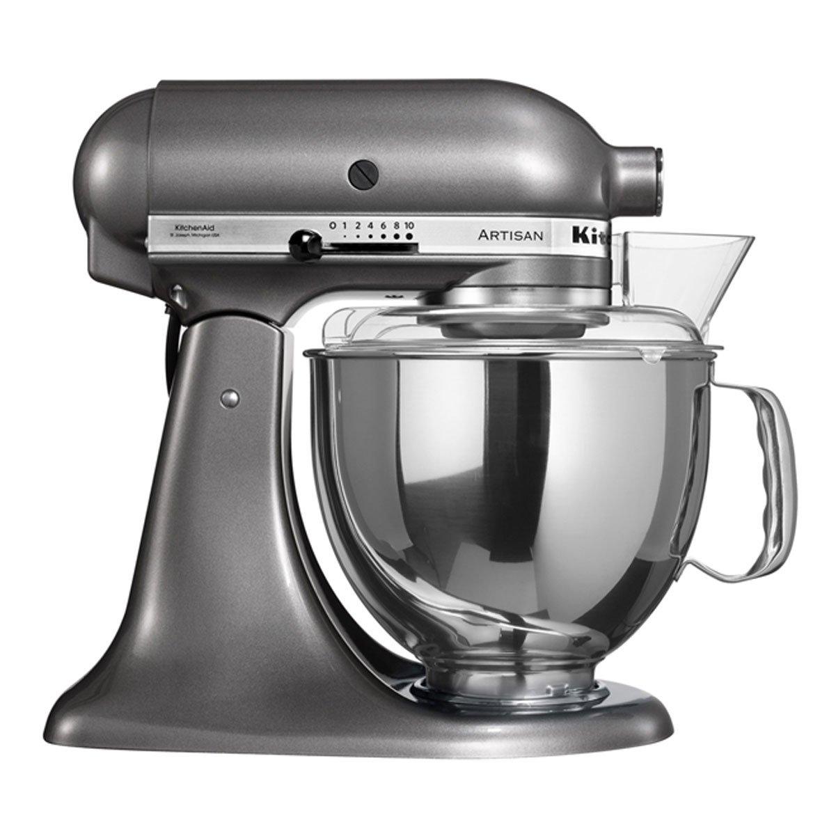 KitchenAid-5KSM150PSEMS-Kchenmaschine-Edelstahl-48-liters-Silber