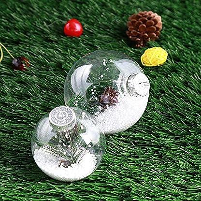 kuaetily-Weihnachtskugeln-mit-Feder-Durchsichtigen-Acrylkugeln-fr-Weihnachtsbaumschmuck-Christbaumkugeln-Saisonal-Deko-New