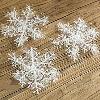 Weihnachtsdeko-60-Stck-Kleine-Klassische-Schneeflocken-Dekoration-fr-Weihnachten-oder-Feiertagspartys-Gre-ca-66-cm-zum-Aufhngen-oder-separat-aufhngen