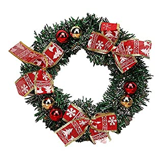 ZXPAG-Adventskranz-Rund-Gebunden-Frisch-Dekogirlande-Weihnachtsgirlande-Rattan-Kranz-fr-Deko-Weihnachten-Advent-Trkranz