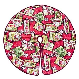 Whiie891203-Weihnachtsdeko6090cm-Teppich-Rock-Carpet-Boden-Matte-Weihnachtsbaum-Decke-Deko-Christbaumstnder-Boden-Home-Hotel-Party-Dekorationen-Ornamente