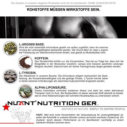 ANABOLIC PROTEIN BOOSTER | Maximale Konzentration & Leistungssteigerung. Mit L-Arginin & Koffein | 90 Kapseln | 100% – VEGAN. | Deutsches Qualitätsprodukt für Fitness & Bodybuilding.