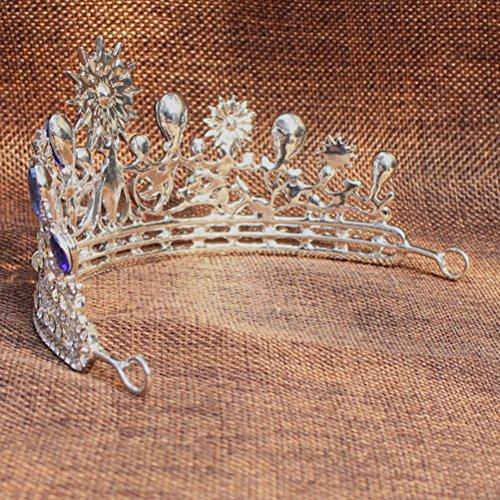 ROSENICE Diadem Hochzeit Krone Tiara Braut Strass Haarreifen
