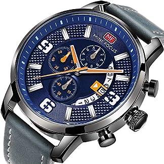 Uhren-Herren-Sport-Armbanduhr-Chronograph-Datum-Lederband-Quarz-Wasserdicht-Armbanduhr-fr-Geschenk