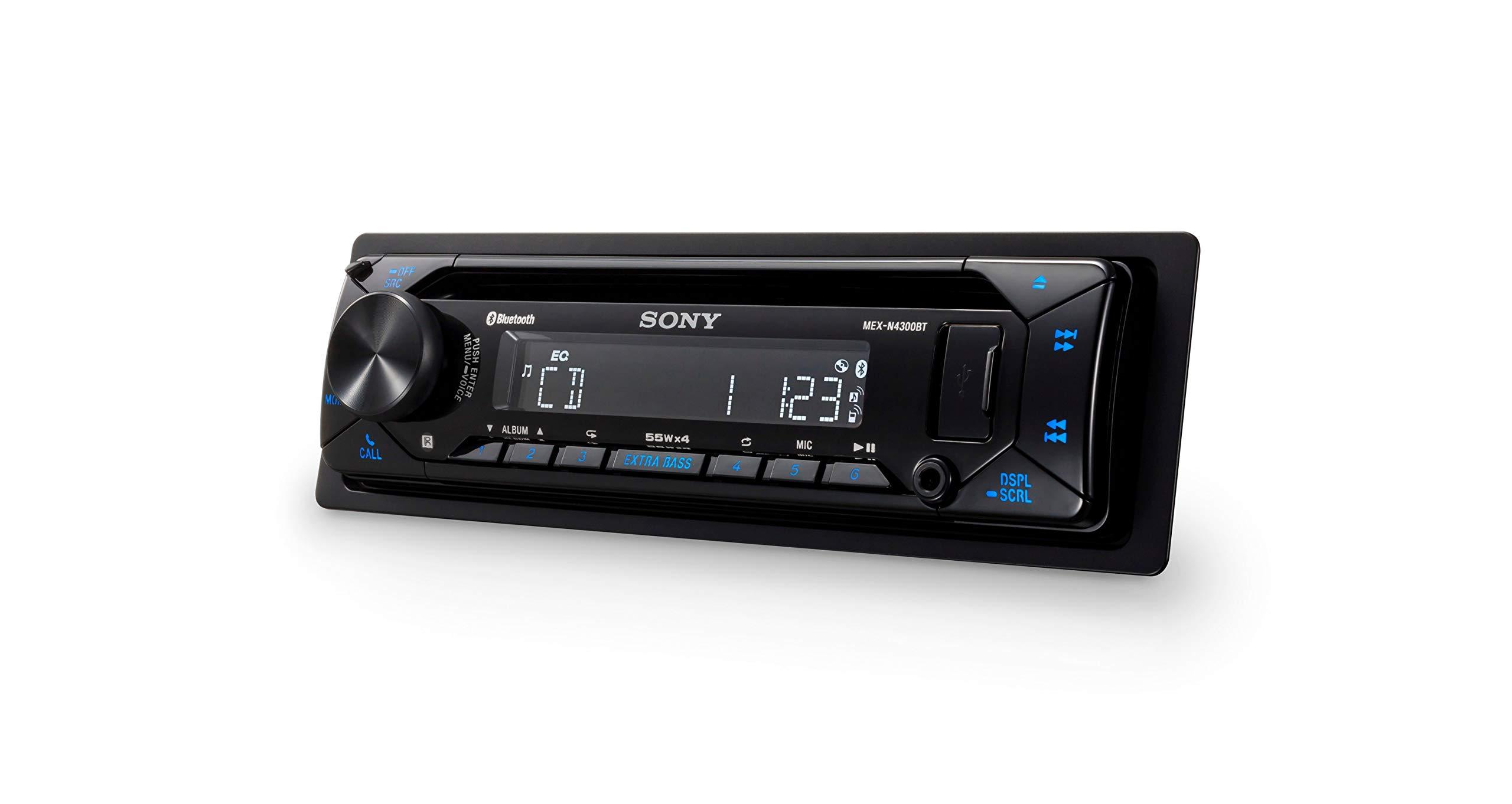 Sony-MEX-N4300BT-Autoradio-mit-CD-Dual-Bluetooth-USB-und-AUX-Anschluss-Freisprechen-4-x55-Watt-blau