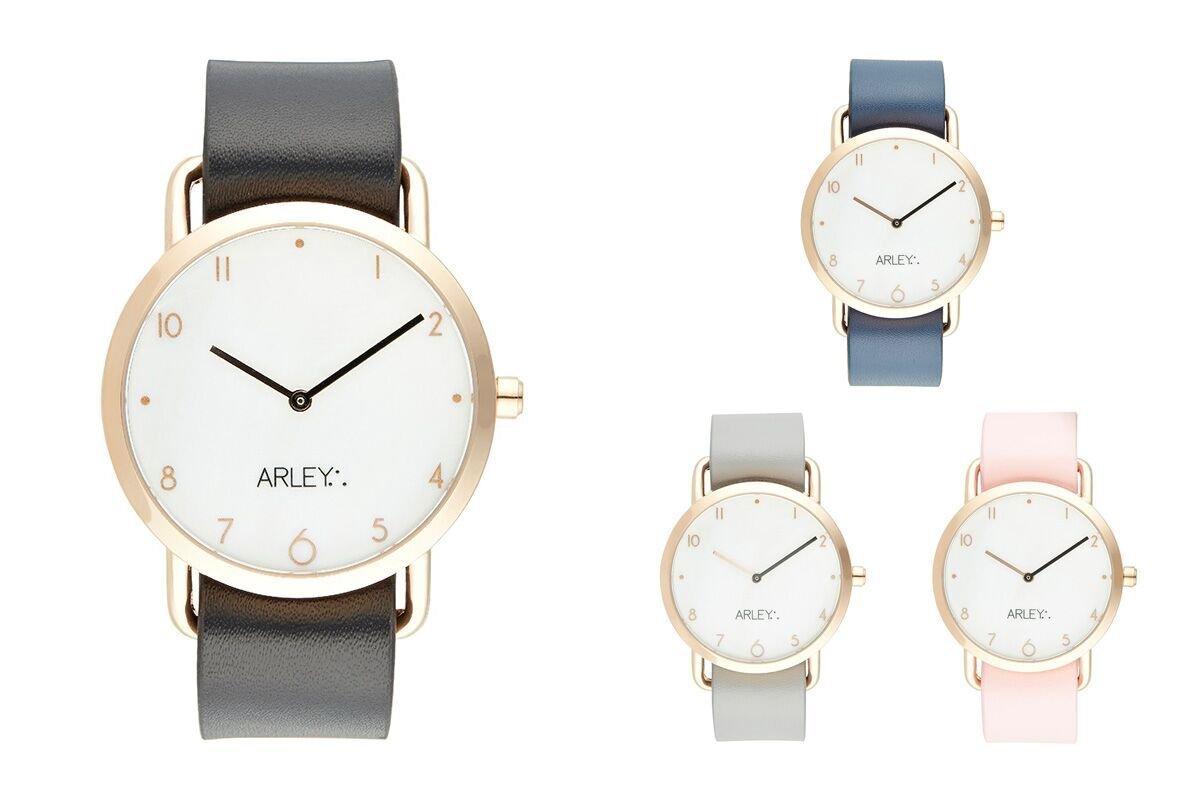 Arley-Unisex-Analog-Quarz-Uhr-mit-Leder-Armband-ARL513