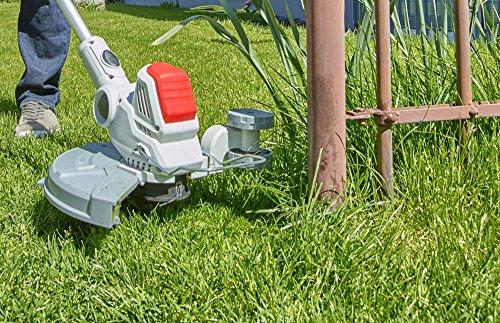 IKRA-Akku-Rasentrimmer-IAT-40-3025-LI-40V-Nylonfaden-fr-scharfen-Schnitt-Schnittkreis-30cm