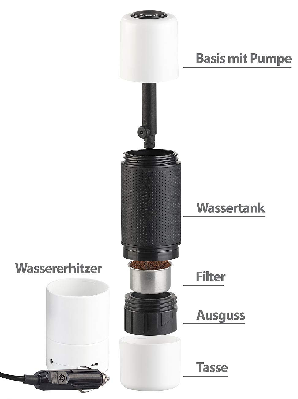 Rosenstein-Shne-Auto-Kaffeemaschinen-Manueller-Mini-Espresso-Maker-mit-12-Volt-Wassererhitzer-10-g100-ml-Kaffeemaschine-Camping