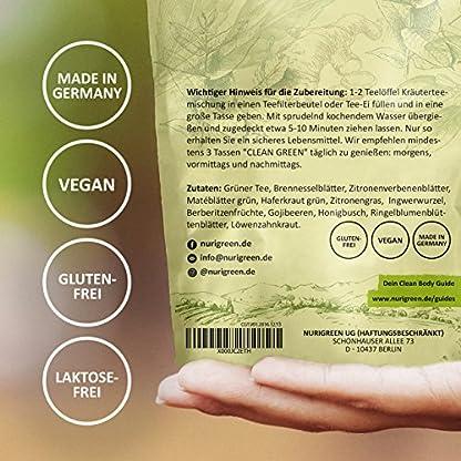 Clean-Green-Detox-Tee–schnell-und-wirksam–14-Tage-Body-Detox-Tee-Kur–100-natrliche-Kruterteemischung-Hergestellt-in-Deutschland–fr-Frauen-und-Mnner–auch-ohne-Sport–Nurigreen