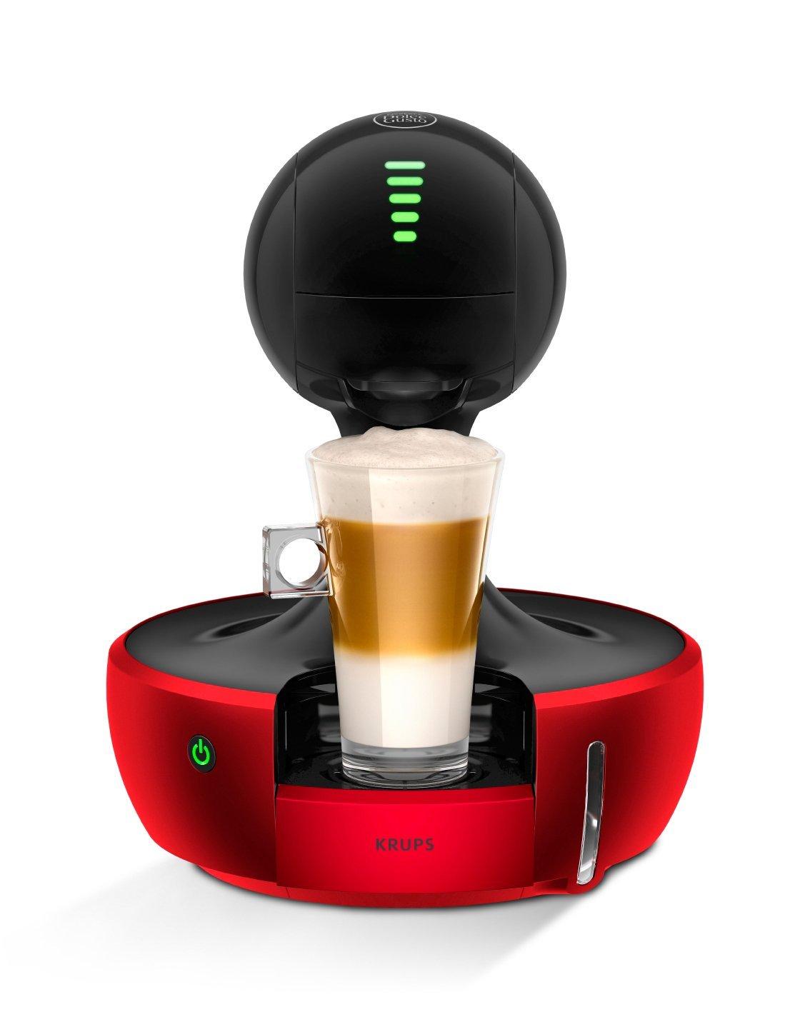 Krups-KP-3505-Nescaf-Dolce-Gusto-Drop-Kaffeekapselmaschine-1500-W-automatisch-rot-Zertifiziert-und-Generalberholt