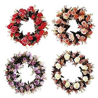 Weihnachtskranz-DIY-Girlande-Tannengirlande-35cm-Weihnachtsdeko-Adventskranz-Knstlich-Strohblumen-Trkranz-fr-Weihnachten-Party