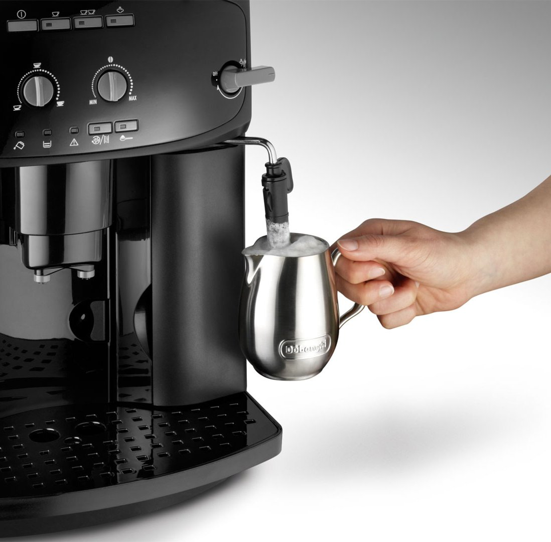 DeLonghi-Caffe-Cortina-ESAM-2900-Kaffeevollautomat-1450-W-18-l-Direktwahltasten-und-Drehregler-Milchaufschumdse-Kegelmahlwerk-13-Stufen-Herausnehmbare-Brhgruppe-2-Tassen-Funktion-schwarz