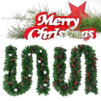 27-m-Weihnachtsgirlande-Rattan-Rattantr-hngen-Kranz-Weihnachten-Hauptdekorationen