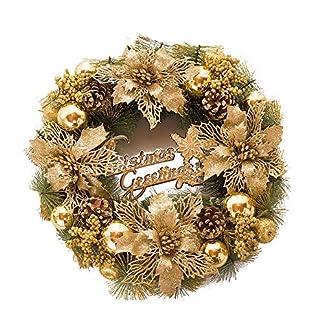 Weihnachtskranz-fr-die-Haustr-30-cm-Wandfenster-Weihnachtsstern-dekorierter-Kranz-fr-den-Auenbereich-dekorative-Girlande-mit-farbigen-Kugeln-Ornamenten-Tannenzapfen-Beeren-Weihnachtsparty