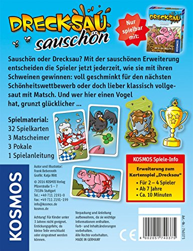 KOSMOS-Spiele-740375-Drecksau-Erweiterung-Sauschn-Kartenspiel