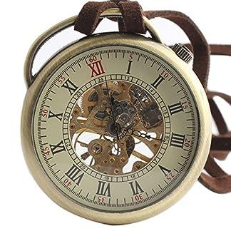 XLORDX-Retro-Handaufzug-mechanische-Taschenuhr-Skelett-Uhr-Metall-mit-Etui-Langeband