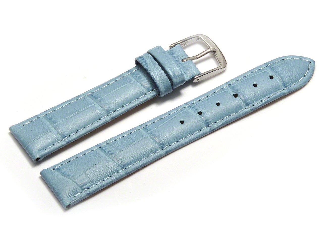 Uhrenarmband-Orig-Watchband-Berlin-Kroko-Prgung-hellblau-16mm